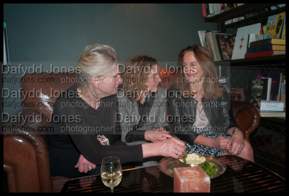 ANN TRENEMAN; DEBORAH ROSS; NICOLA JEAL, Lynn Barber celebrates her 70th birthday and the publiction of ' A Curious Career. Hixter, 9a Devonshire Sq. London. 8 May 2014.