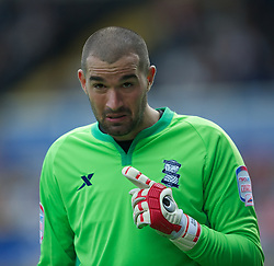 BIRMINGHAM, ENGLAND - Saturday, July 30, 2011: Birmingham City's new signing goalkeeper Boaz Myhill in action against Everton during a preseason friendly match at St Andrews. (Photo by David Rawcliffe/Propaganda)