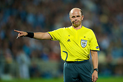 MARSEILLE, FRANCE - Tuesday, September 16, 2008: Referee Konrad Plautz takes charge of Olympique de Marseille versus Liverpool during the opening UEFA Champions League Group D match at the Stade Velodrome. (Photo by David Rawcliffe/Propaganda)