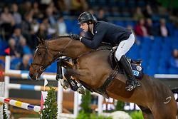 KREUZER Andreas (GER), Easy Blue<br /> Stuttgart - German Masters 2018<br /> Int. 2-Phasen-Springen<br /> CSI5*-W Qualifikation<br /> 15. November 2018<br /> © www.sportfotos-lafrentz.de/Stefan Lafrentz