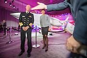 Fort Worth, Texas, USA, 20150922: Forsvarsminister Ine Eriksen Søreide og Norges forsvarsledelse tar i mot det første F-35 jagerflyet under en seremoni på Lockheed Martins fabrikk i Texas. Foto: Ørjan F. Ellingvåg
