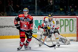 08.01.2017, Ice Rink, Znojmo, CZE, EBEL, HC Orli Znojmo vs Dornbirner Eishockey Club, 41. Runde, im Bild v.l. Antonin Boruta (HC Orli Znojmo) Daniel Ban (Dornbirner) // during the Erste Bank Icehockey League 41th round match between HC Orli Znojmo and Dornbirner Eishockey Club at the Ice Rink in Znojmo, Czech Republic on 2017/01/08. EXPA Pictures © 2017, PhotoCredit: EXPA/ Rostislav Pfeffer