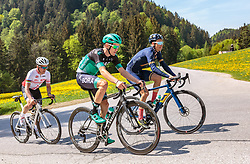 25.04.2018, Gnadenwald, AUT, ÖRV Trainingslager, UCI Straßenrad WM 2018, im Bild v.l.: Thomas Rohregger (AUT), Patrick Konrad (AUT), Stefan Denifl (AUT) // during a Testdrive for the UCI Road World Championships in GNADENWALD, Austria on 2018/04/25. EXPA Pictures © 2018, PhotoCredit: EXPA/ JFK