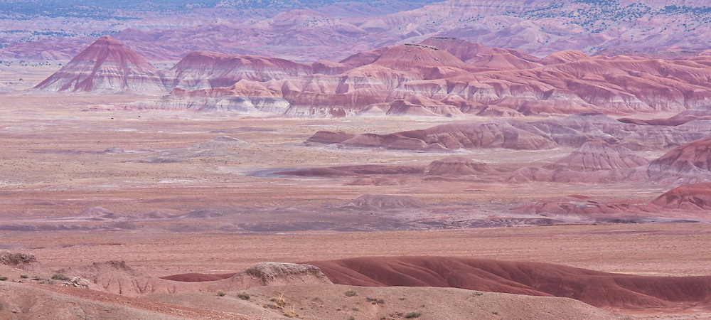 Painted Desert in Arizona. Outside of the National Park area, in less visited area.