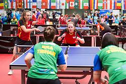 KRAMM Lena and REEG Marlene of Germany at 14th Slovenia Open - Thermana Lasko 2017 Table Tennis for the Disabled Factor 40, on May 7, 2017, in Dvorana Tri Lilije, Lasko, Slovenia. Photo by Urban Urbanc / Sportida