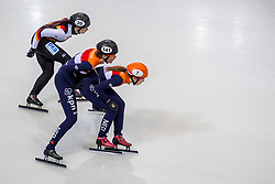 12-01-2018 DUI: ISU European Short Track Championships 2018 day 1, Dresden<br /> Suzanne Schulting NED #7, Jorien ter Mors NED #141