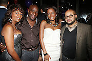 l to r: Jo Coleman, Len Burnett, Kelly Colman and Brett Wright at The Birthday Celebration for Kelli Coleman held at The Avenue on Decemeber 6, 2009 in New York City