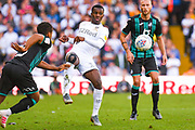 Leeds United forward Eddie Nketiah (14) during the EFL Sky Bet Championship match between Leeds United and Swansea City at Elland Road, Leeds, England on 31 August 2019.