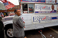 Adriano Espaillat in the last day of his winning campaign to be the democratic nominee for Congress