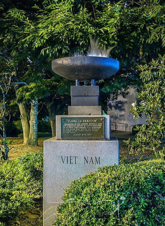The Flame of Freedom honors those who served in the Vietnam War, June 4, 2014, in Decatur, Georgia. (Photo by Carmen K. Sisson/Cloudybright)
