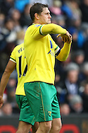 Picture by Paul Chesterton/Focus Images Ltd.  07904 640267.28/01/12.Grant Holt of Norwich City opens the scoring and celebrates with  during the FA Cup fourth round match at The Hawthorns Stadium, West Bromwich.