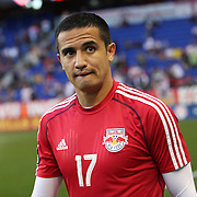 Tim Cahill, New York Red Bulls, before the New York Red Bulls Vs Houston Dynamo, Major League Soccer regular season match at Red Bull Arena, Harrison, New Jersey. USA. 4th October 2014. Photo Tim Clayton