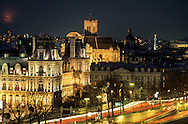 France. Paris. elevated view. Seine river, city hall. view from the Conciergerie Bell tower