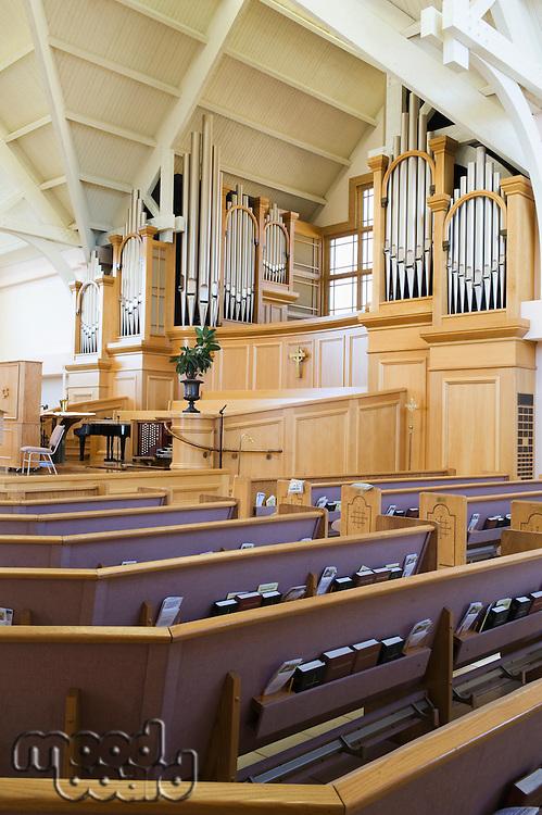 Modern church interior