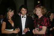Sophie Hunter, Conrad Shawcross and Grayson Perry. Great Britons 2004. Royal Courts Of Justice, London, WC2, 27 january 2005.  ONE TIME USE ONLY - DO NOT ARCHIVE  © Copyright Photograph by Dafydd Jones 66 Stockwell Park Rd. London SW9 0DA Tel 020 7733 0108 www.dafjones.com