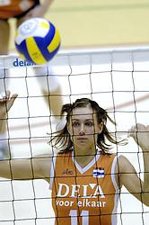 16-10-2006 VOLLEYBAL: DELA TROPHY: NEDERLAND - CUBA: ROTTERDAM<br /> De Nederlandse volleybalsters hebben de derde wedstrijd in de testserie tegen Cuba, met als inzet de Dela Cup, verloren. In Rotterdam zegevierde Cuba met 3-1 / Caroline Wensink<br /> ©2006-WWW.FOTOHOOGENDOORN.NL
