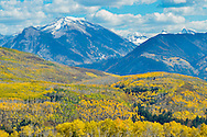 Fall foliage near McClure Pass on Highway 133 outside of Paonia, Colorado.