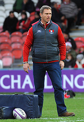 Gloucester Rugby's head coach Johan Ackermann leads the warm up session -Mandatory by-line: Nizaam Jones/JMP- 16/12/2017 - RUGBY - Kingsholm - Gloucester, England - Gloucester Rugby v Zebre Rugby Club- European Rugby Challenge Cup