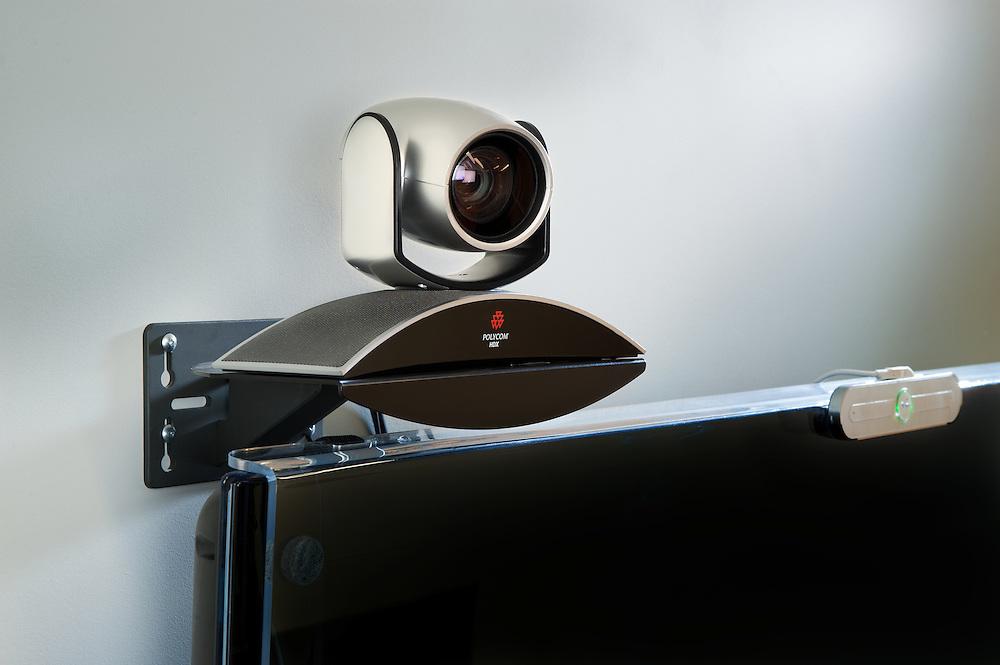 teleconference camera and television, camera, video camera,