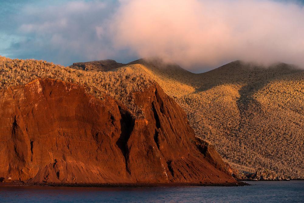 Rabida Cliffs<br /> Red Beach<br /> Rabida<br /> Galapagos<br /> Ecuador, South America