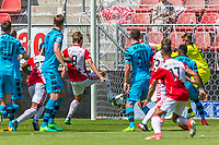 UTRECHT - 28-05-2017, FC Utrecht - AZ, Stadion Galgenwaard, FC Utrecht speler Willem Janssen scoort hier de 1-0, doelpunt
