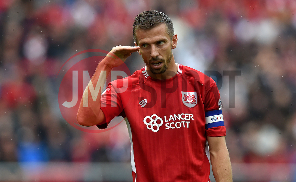 Gary O'Neil of Bristol City gestures  - Mandatory by-line: Joe Meredith/JMP - 20/08/2016 - FOOTBALL - Ashton Gate - Bristol, England - Bristol City v Newcastle United - Sky Bet Championship