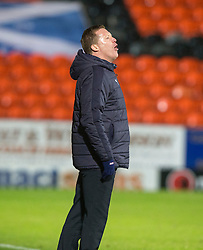 Raith Rovers manager Gary Locke. Dundee United 3 v 0 Raith Rovers, Scottish Championship game played 4/2/2017 at Dundee United's stadium Tannadice Park.