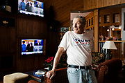 REEDSBURG, WI – JANUARY 20: Al Exner, Chairman of the Sauk County Republicans, looks out the window at the Inn at Wawanissee Point, where he and fellow Sauk County Republicans joined for an a Presidential Inauguration watching party.