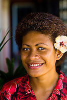 Fijian woman, Nukubati Island Resort, Fiji Islands