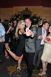 NICK CANDY and OLA JORDAN at the 39th birthday party for Nick Candy in association with Ciroc Vodka held at 5 Cavindish Square, London on 21st Januatu 2012.