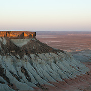 Sunrise at the Yangikala Canyon in northern Turkmenistan near the Caspian Sea