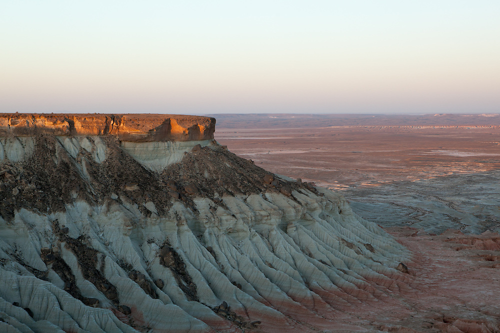 Sunrise at the Yangikala Canyon in northern Turkmenistan near the Caspian Sea