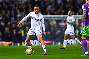 Kemar Roofe of Leeds United (7) in action during the EFL Sky Bet Championship match between Leeds United and Bristol City at Elland Road, Leeds, England on 24 November 2018.