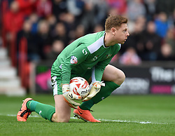 Milton Keynes Dons' David Martin in action during the Sky Bet League One match between Swindon Town and Milton Keynes Dons at The County Ground on 4 April 2015 in Swindon, England - Photo mandatory by-line: Paul Knight/JMP - Mobile: 07966 386802 - 04/04/2015 - SPORT - Football - Swindon - The County Ground - Swindon Town v Milton Keynes Dons - Sky Bet League One