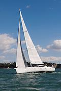 Cruising yacht Celadon on the Hauraki Gulf