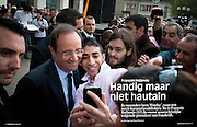 Assignment. Candidate Françoise Hollande campaigns for presidential elections. (France)