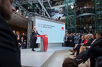 29 JAN 2016, BERLIN/GERMANY:<br /> Martin Schulz, SPD, Kanzlerkandidat, haelt seine Vorstellungsrede, Vorstellung von Schulz als Kanzlerkandidat der SPD zur Bundestagswahl, nach der Nominierung durch den SPD-Parteivorstand, Willy-Brandt-Haus<br /> IMAGE: 20170129-01-056<br /> KEYWORDS: &Uuml;bersicht, Uebersicht