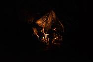Night in a migrants tent. Grande Synthe, France. FEDERICO SCOPPA/CAPTA