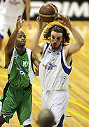 Casey Frank in action during the NBL basketball match between the Youthtown Auckland Stars and the Manawatu Jets at the ASB Stadium, Auckland, New Zealand on Thursday 5 April 2007. Photo: Hannah Johnston/PHOTOSPORT<br /> <br /> <br /> <br /> 050407