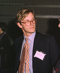 MR EDWARD HEATHCOTE-AMERY, assistant editor of The Spectator magazine,  at a reception in London on 4th November 1997.MCX 45