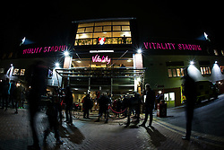 Fans begin to arrive at Vitality Stadium for tonight match, Bournemouth v West Ham United - Mandatory by-line: Jason Brown/JMP - Mobile 07966 386802 12/01/2016 - SPORT - FOOTBALL - Bournemouth, Vitality Stadium - AFC Bournemouth v West Ham United - Barclays Premier League