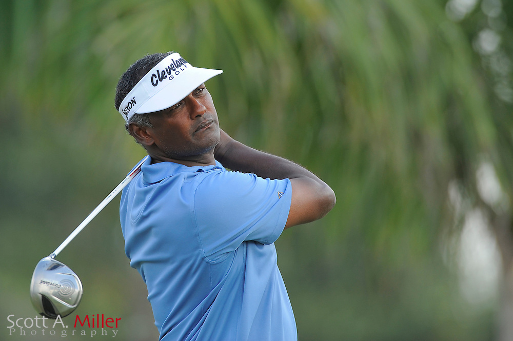 Vijay Singh during the third round of the World Golf Championship Cadillac Championship on the TPC Blue Monster Course at Doral Golf Resort And Spa on March 10, 2012 in Doral, Fla. ..©2012 Scott A. Miller.