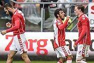 06-11-2016: Voetbal: FC Utrecht v Excelsior: Utrecht<br /> <br /> (L-R) FC Utrecht speler Yassin Ayoub heeft gescoord (1-0) tijdens het Eredivsie duel tussen FC Utrecht en Excelsior op 6 november 2016 in stadion Galgenwaard tijdens speelronde 12<br /> <br /> Eredivisie - Seizoen 2016 / 2017<br /> <br /> Foto: Gertjan Kooij