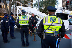 31 Jan 2013. New Orleans, Louisiana USA. .Secuirty tightens around the Mercedes Benz Superdome, home of the New Orleans Saints in advance of Super Bowl XLVII (47th) as the Baltimore Ravens go up against the San Francisco 49'ers. With just days to go, NOPD is working overtime with multiple agencies as they prepare for the big game..Photo; Charlie Varley