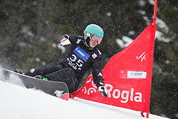 Bo-Gun Choi (KOR) competes during Qualification Run of Men's Parallel Giant Slalom at FIS Snowboard World Cup Rogla 2016, on January 23, 2016 in Course Jasa, Rogla, Slovenia. Photo by Ziga Zupan / Sportida