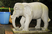 China, Sichuan Province, Mount Emei Wannian Temple replica of the Elephant with six tusks statue
