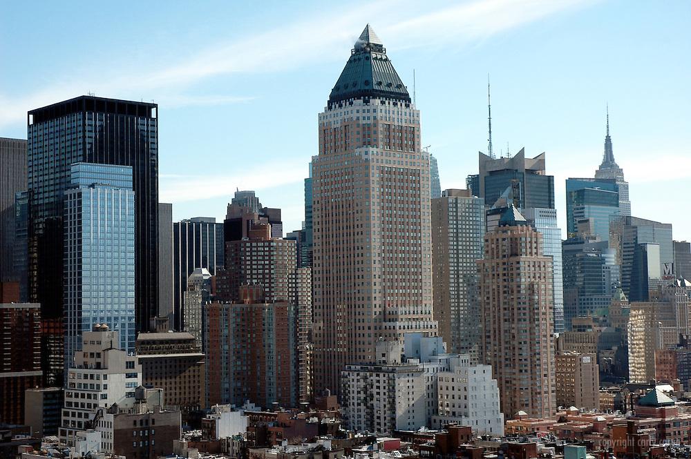 Worldwide Plaza midtown cityscape