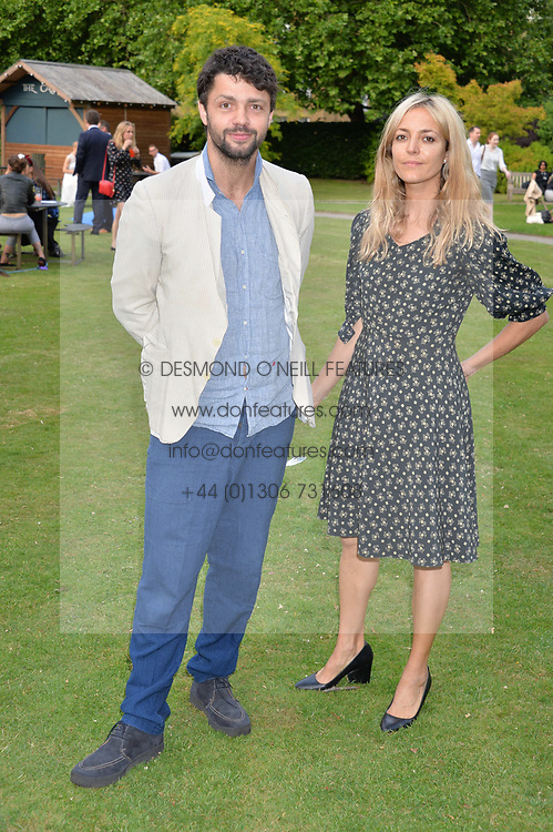 Conrad Shawcross and Carolina Mazzolari at the Dulwich Picture Gallery's inaugural Summer Party, Dulwich Picture Gallery, College Road, London England. 13 June 2017.