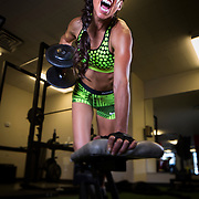 Savannah Chavez fitness shoot in Bountiful, Utah, Saturday April 11, 2015. (Photo by August Miller)