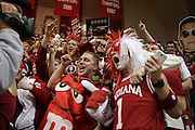November 27, 2012: Indiana Hoosiers fans cheer during the second half against the North Carolina Tar Heels at Assembly Hall in Bloomington, Indiana. Indiana defeated North Carolina 83-59.